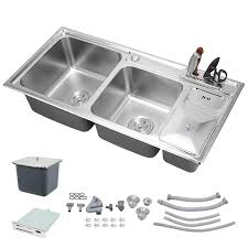 top mount stainless steel sink voilamart 920x430mm kitchen stainless steel sink bowl topmount
