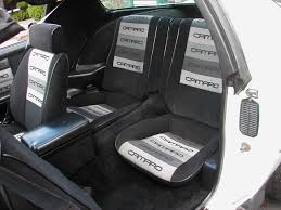 gray on black contour camaro fabric seats in a 1985 z28 camaro