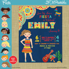 themed pinata birthday party flyer invitation poster party mexico mexican