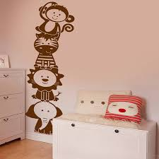 jungle animal stacker wall sticker decal by snuggledust studios wall stickers