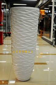 Floor Vases Home Decor 112 Wavy White Large Floor Vase Modern Fashion Flower Brief