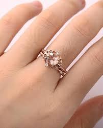 vintage morganite engagement ring set art deco antique engagement
