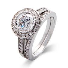 promise ring engagement ring wedding ring set cut heirloom cz bridal ring set s addiction