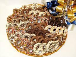 pretzel delivery chocolate dipped pretzel platter le chocoaltier