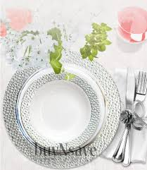 cheap plates for wedding buy buynsave white with silver heavyweight plastic