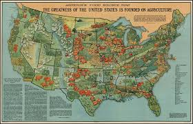 Physiographic Map Of The United States by Agricultural Production Regions In The United States
