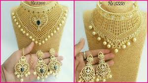 stone choker necklace images New arrival beautiful 1 gm gold cz stone choker necklace sets with jpg