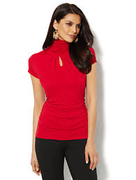 keyhole turtleneck shop sleeve shirred keyhole turtleneck find your