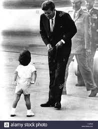john f kennedy junior president john f kennedy being greeted by his son john f