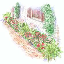 Flower Bed Plan - bold and bright foundation garden plan garden planning