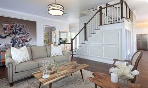 Decorative Wall Frame Moulding Decorative Stair Molding Living Room Transitional With Beige Wall