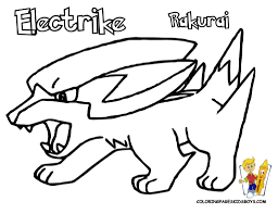 electrike pokemon picture coloring pages book for bebo pandco
