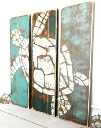 Pinterest Beach Decor Coastal Ocean And Beach Paintings On Wood For A Rustic Unique