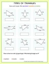 naming triangles worksheet best 25 different types of triangles ideas on