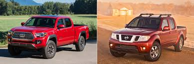 orange nissan truck head to head 2016 toyota tacoma trd off road vs 2016 nissan