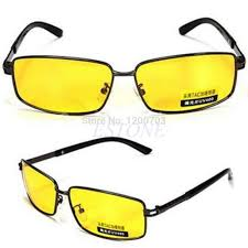 2017 high quality night driving vision yellow lens sunglasses