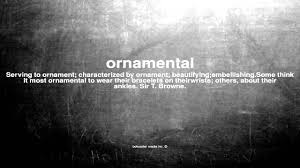 what does ornamental