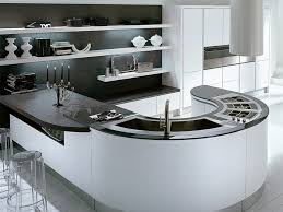 kitchens with island benches unique curved kitchen island benches with curved double bowl