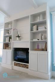 Diy Built In Cabinets by Ana White Bookcase Built Ins With Fireplace Insert Featuring