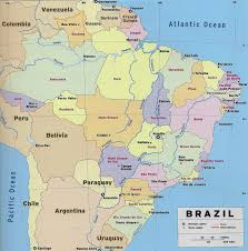 State Capitals Map Large Detailed Political And Administrative Map Of Brazil With