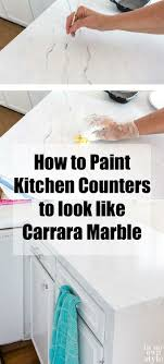 what type of paint to use on formica cabinets painting kitchen countertops to look like carrara marble