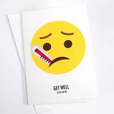 card for sick friend emoji get well soon card of lemons