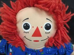 1996 hasbro raggedy ann ragdoll red hair flowered dress plush