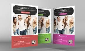 social media brochure template social media marketing flyer psd template