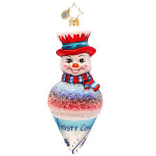 christopher radko ornaments 2016 radko snowman ornament frosty