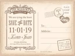 save the date wedding invitations vintage postcard save the date background for wedding invitation