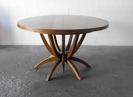 mid century round dining table mid century modern dining table mcm table internal leaf 002 city mid