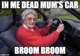 old lady driver meme generator imgflip