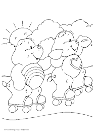 care bears printable coloring kids care bears