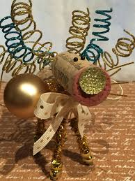 wine cork reindeer ornament holiday miniatures christmas reindeer