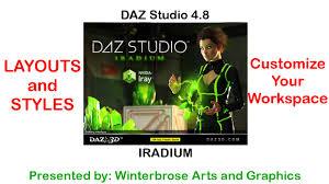 studio layouts daz studio 4 8 layouts and styles customizing your workspace