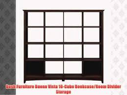 bush furniture buena vista 16 cube bookcase room divider storage