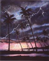 how to paint lightning oil painting demonstrations