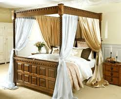 poster bed canopy four poster bed curtains four poster with satin and voile drape four