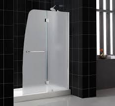 Frosted Glass Shower Door Frameless Dreamline Showers Aqua Tub Door Frosted Glass Frameless Bathtub