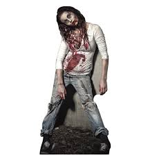 life size zombie cardboard standup