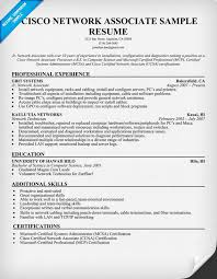 Sample Resume For Hardware And Networking For Fresher by Cisco Network Engineer Cover Letter