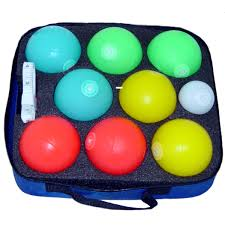 lighted glow led bocce set 83mm