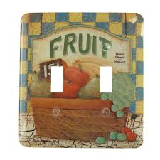 wall fruit basket amerelle fruit basket 2 toggle wall plate 1801tt the home depot