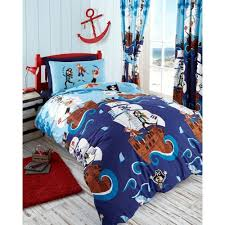 kid u0027s club pirates single duvet cover and 1 pillowcase bed set