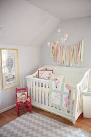 Nursery Throw Rugs Bedroom Unique Hanging Lamp Above Casual Crib Near Baby