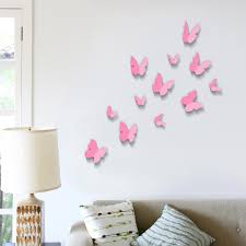 wall stickers next day delivery wall stickers from worldstores walplus 12 piece 3d pink butterfly wall sticker collection