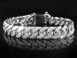 cuban bracelet images Silver iced out cuban link bracelet capital bling jpg