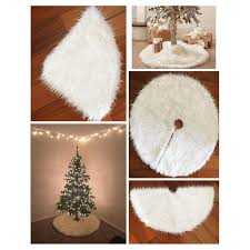 wholesale creative white plush tree skirts fur carpet
