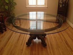 large glass top dining table large round glass dining room table decor ideas and with decorations