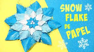 adornos navidad snow flake copo de nieve de papel origami y